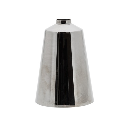 metal spinning sample conical cylinder with tight top stainless steel polished