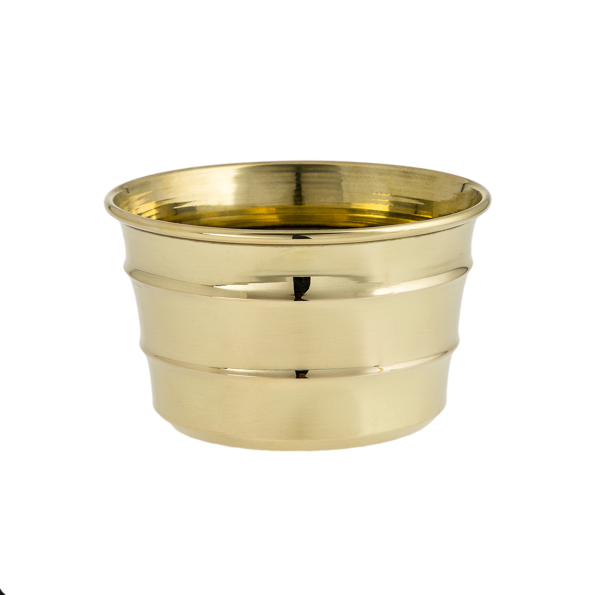 metal spinning sample cup brass polished with decoration wrinkles