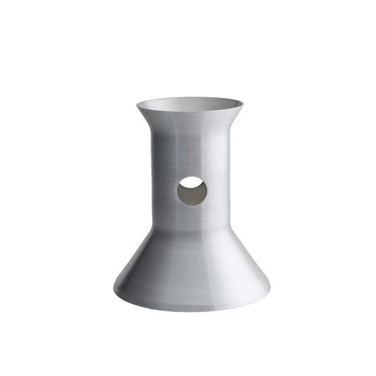 metal spinning sample nozzle conical cylinder with side holes