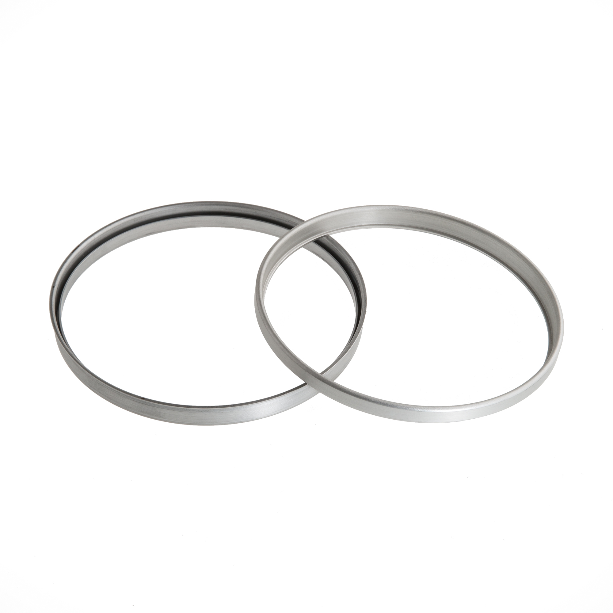 metal spinning sample two rings with rim aluminum